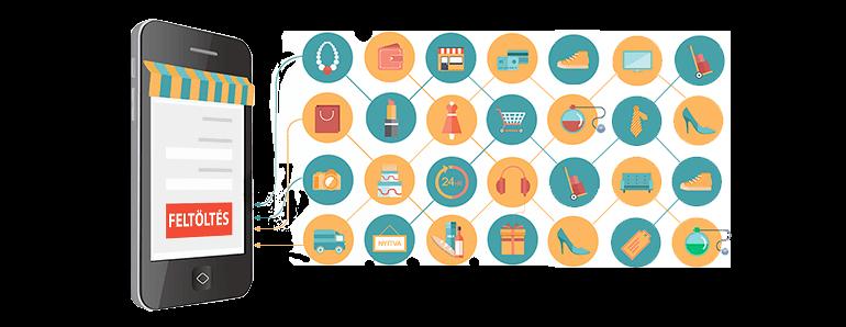 Webáruház termékeinek leírása, szöveges információk